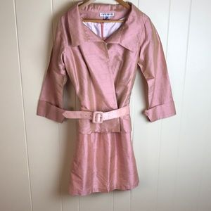 Karen Warren Silk Dress & Jacket w/ Belt